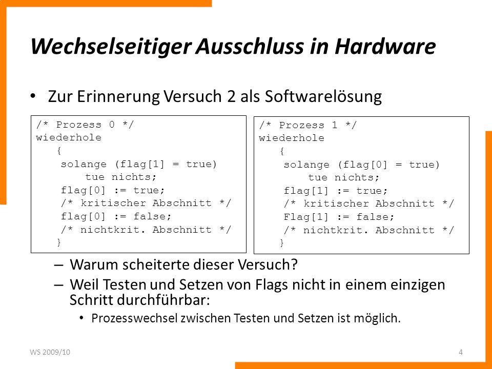 Wechselseitiger Ausschluss in Hardware