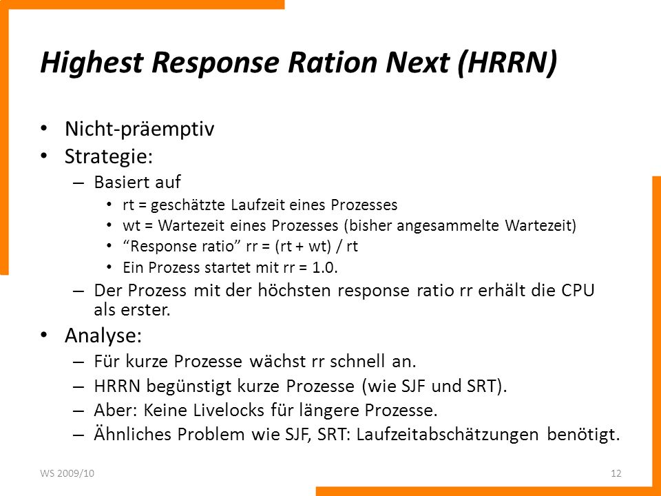 Highest Response Ration Next (HRRN)