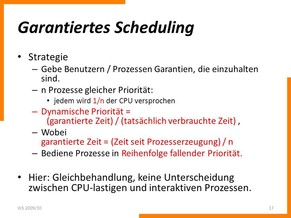 Garantiertes Scheduling