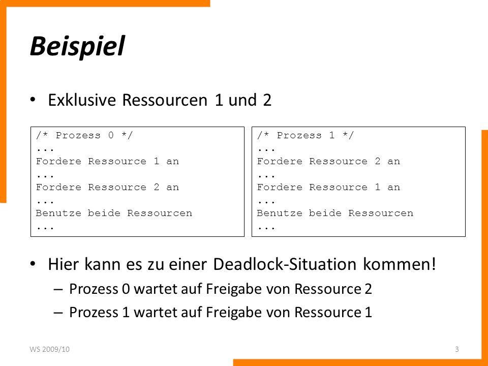 Beispiel Exklusive Ressourcen 1 und 2