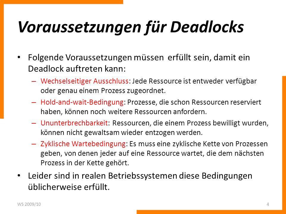 Voraussetzungen für Deadlocks
