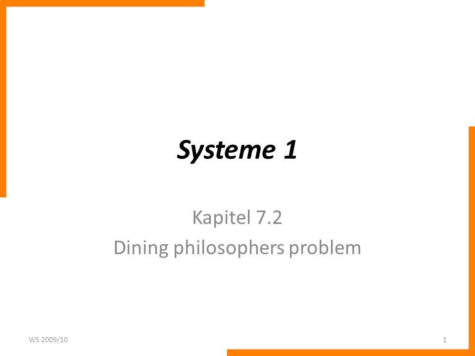 Kapitel 7.2 Dining philosophers problem