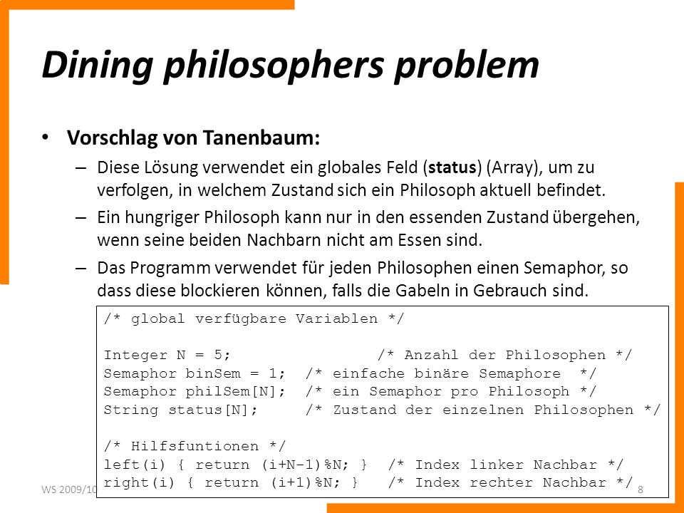 Dining philosophers problem