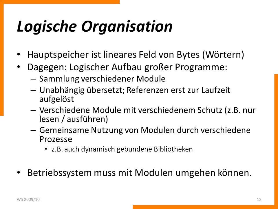 Logische Organisation