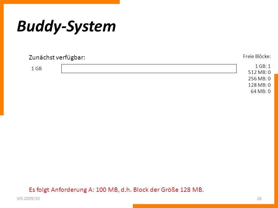 Buddy-System Zunächst verfügbar: