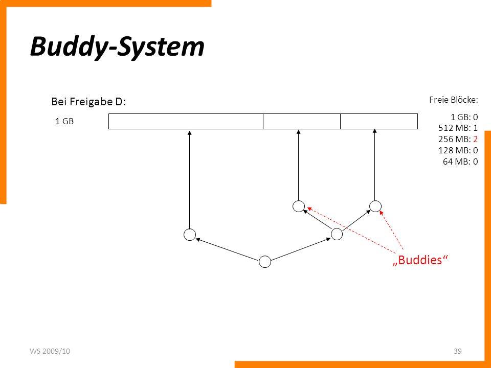 """Buddy-System """"Buddies Bei Freigabe D: Freie Blöcke:"""