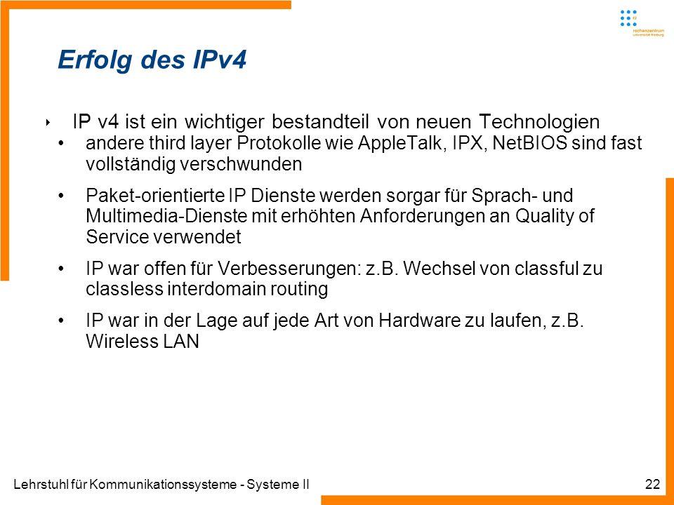 Erfolg des IPv4IP v4 ist ein wichtiger bestandteil von neuen Technologien.