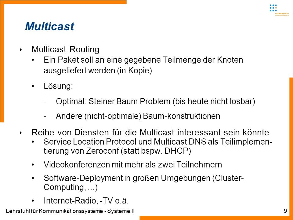 Multicast Multicast Routing
