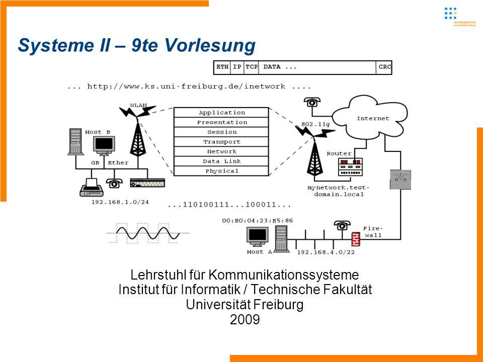 Systeme II – 9te Vorlesung