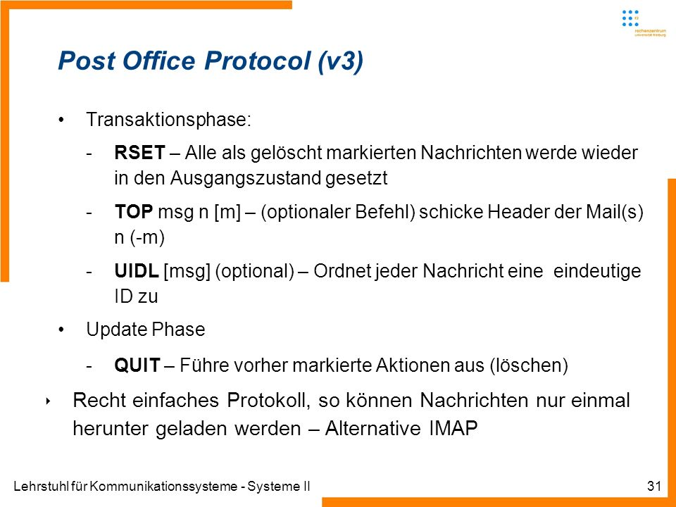 Post Office Protocol (v3)