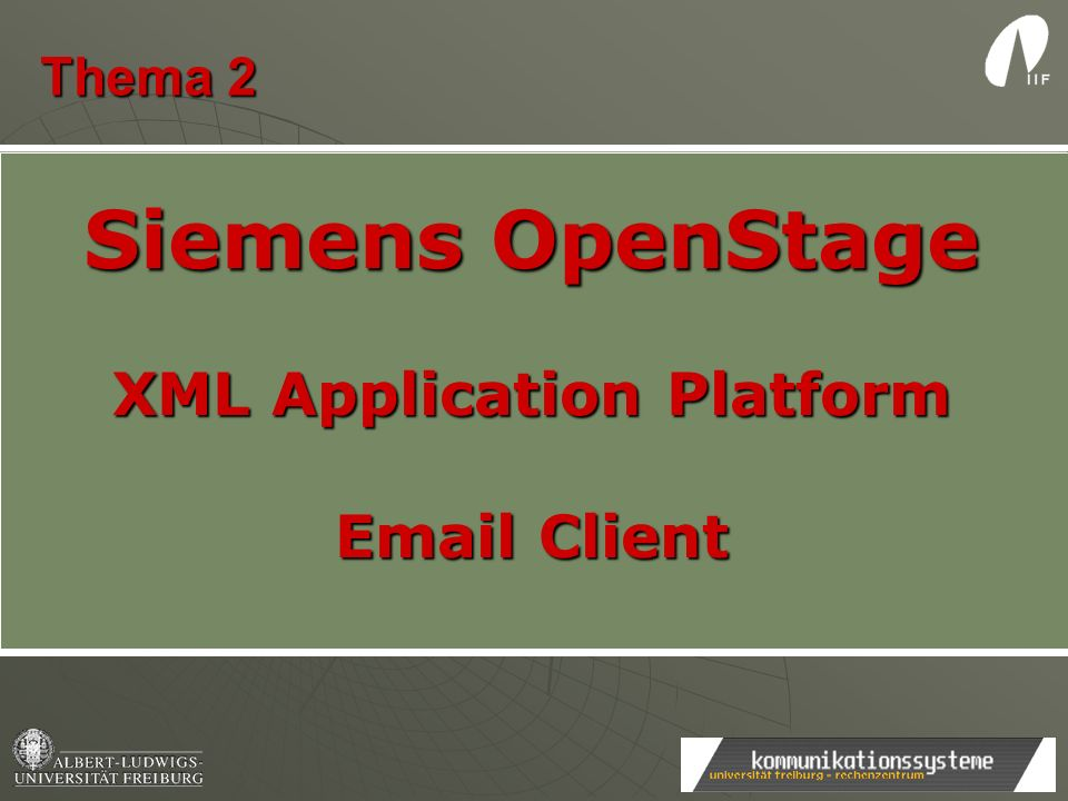 XML Application Platform