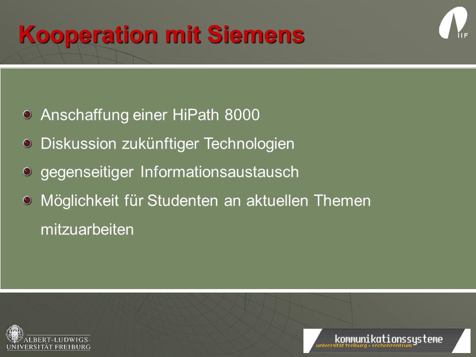 Kooperation mit Siemens