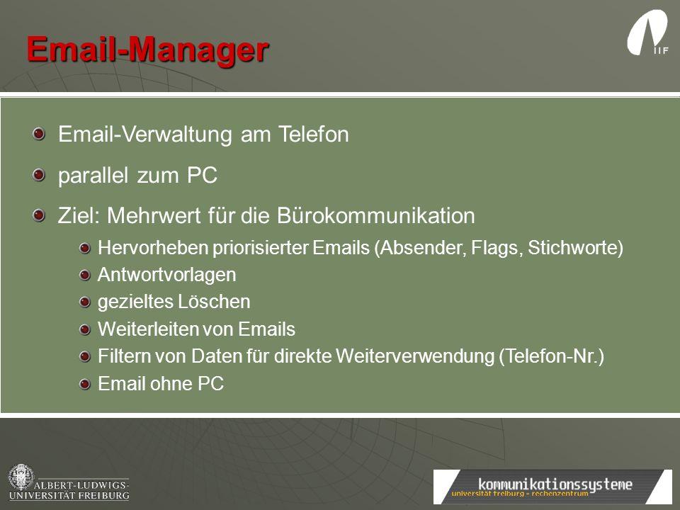Email-Manager Email-Verwaltung am Telefon parallel zum PC