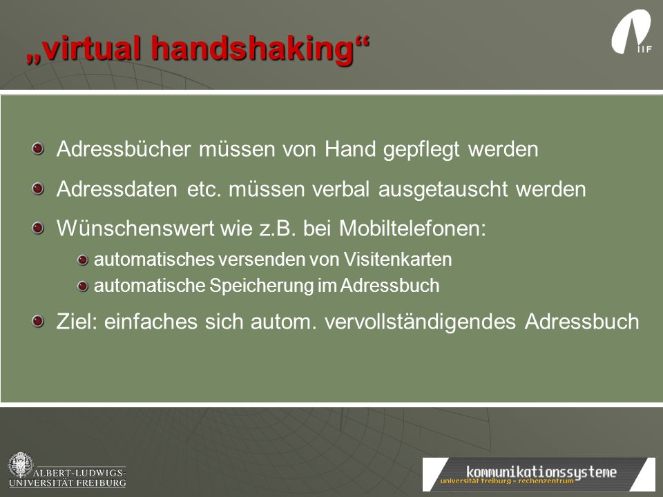 """virtual handshaking"