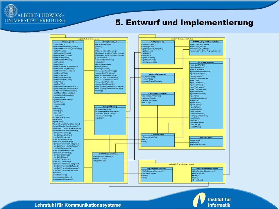 5. Entwurf und Implementierung