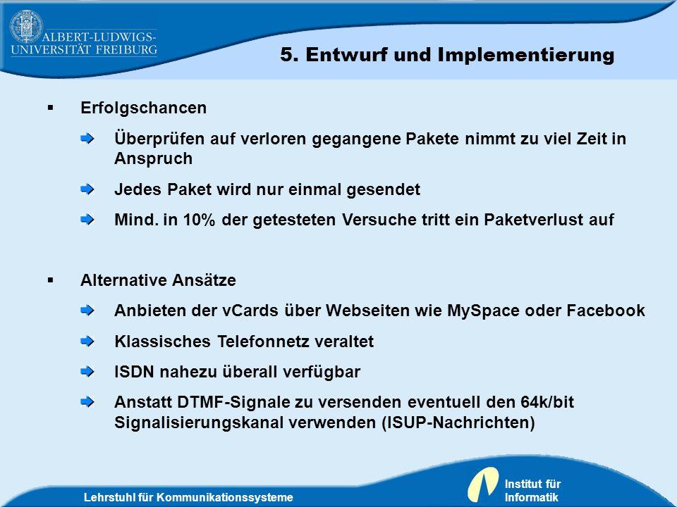 5. Entwurf und Implementierung 6. Zusammenfassung und Ausblick
