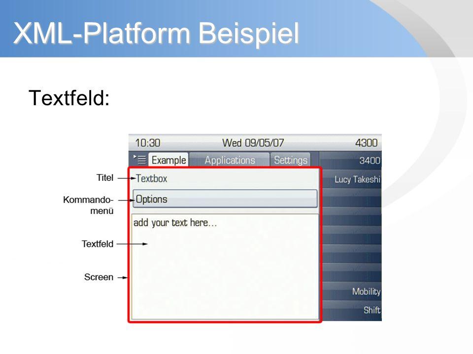 XML-Platform Beispiel