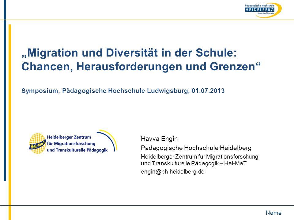 """""""Migration und Diversität in der Schule: Chancen, Herausforderungen und Grenzen Symposium, Pädagogische Hochschule Ludwigsburg, 01.07.2013"""