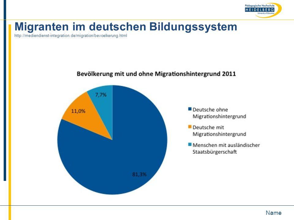Migranten im deutschen Bildungssystem http://mediendienst-integration