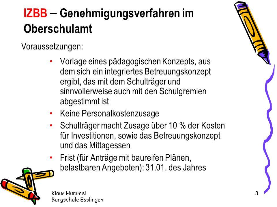 IZBB – Genehmigungsverfahren im Oberschulamt