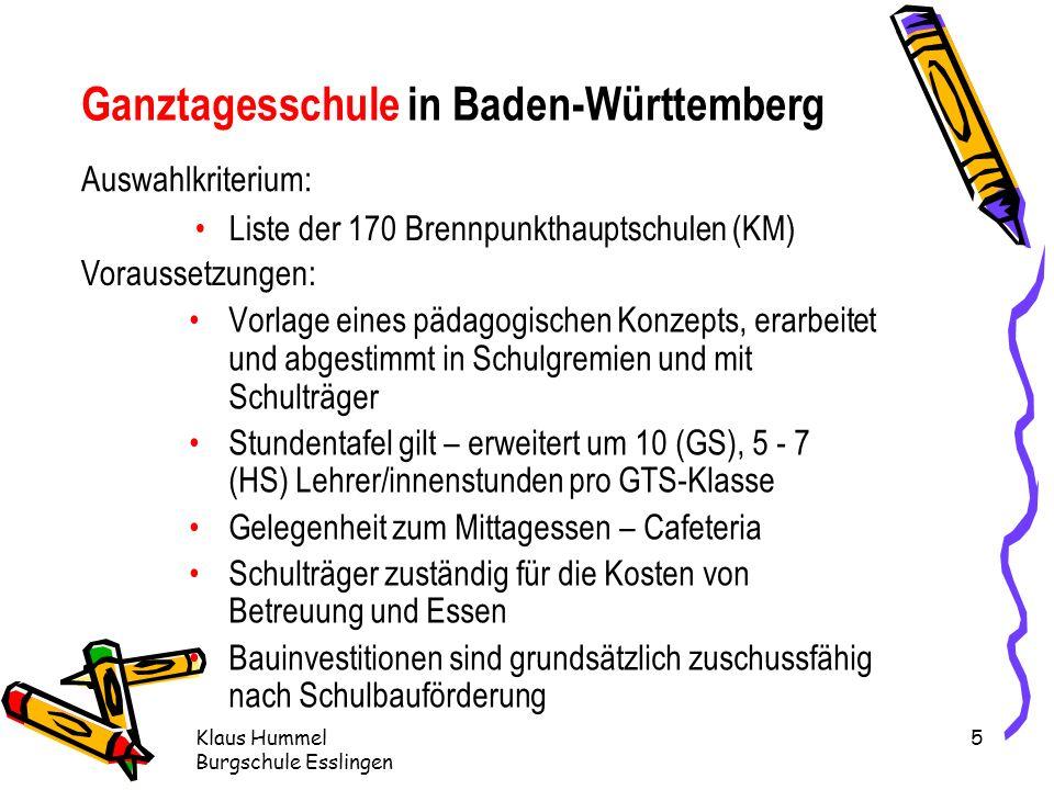 Ganztagesschule in Baden-Württemberg