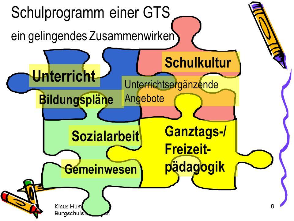 Schulprogramm einer GTS ein gelingendes Zusammenwirken