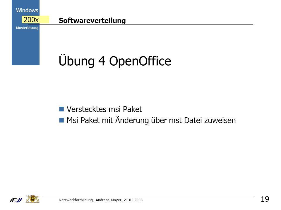 Übung 4 OpenOffice Verstecktes msi Paket