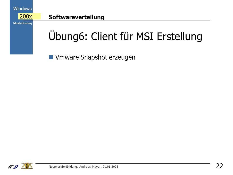 Übung6: Client für MSI Erstellung