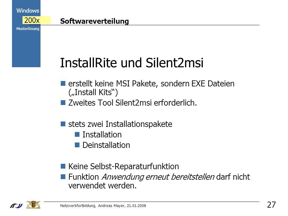 InstallRite und Silent2msi