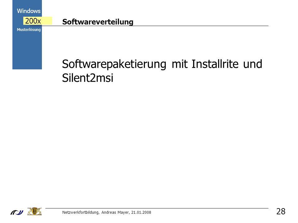 Softwarepaketierung mit Installrite und Silent2msi