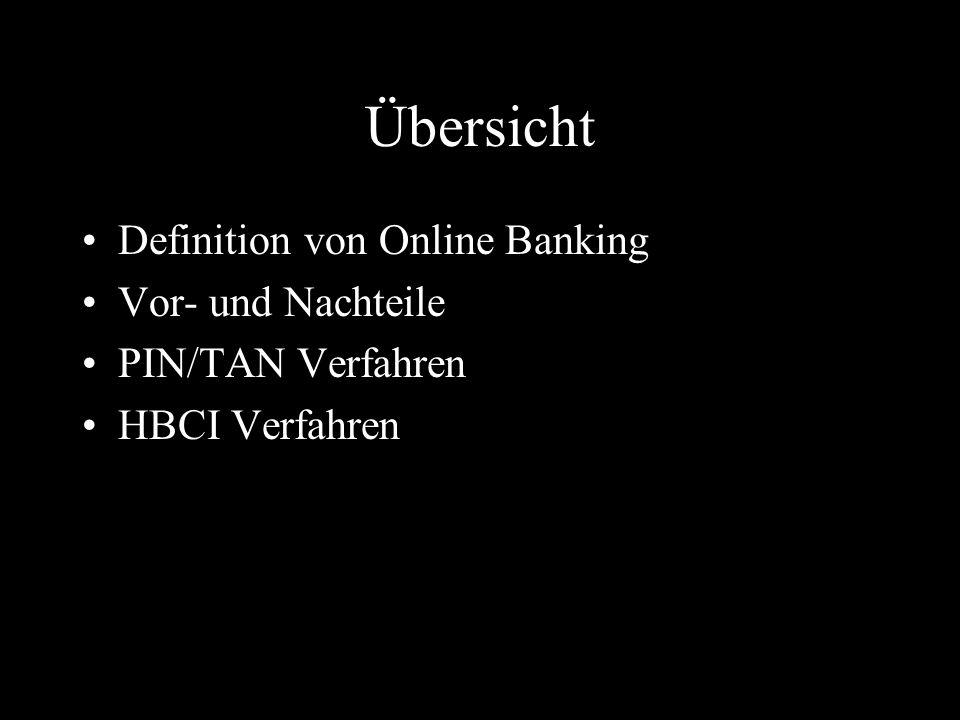 Übersicht Definition von Online Banking Vor- und Nachteile