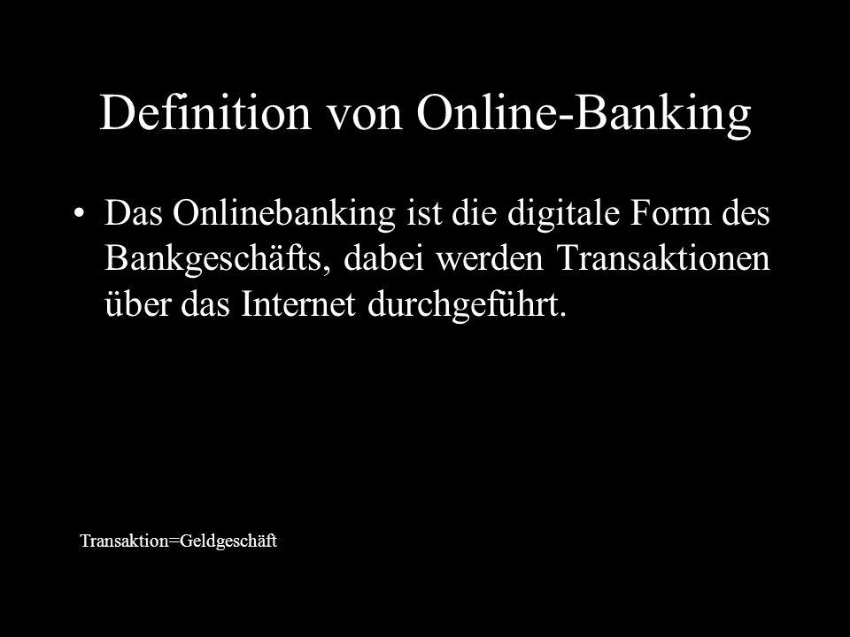 Definition von Online-Banking