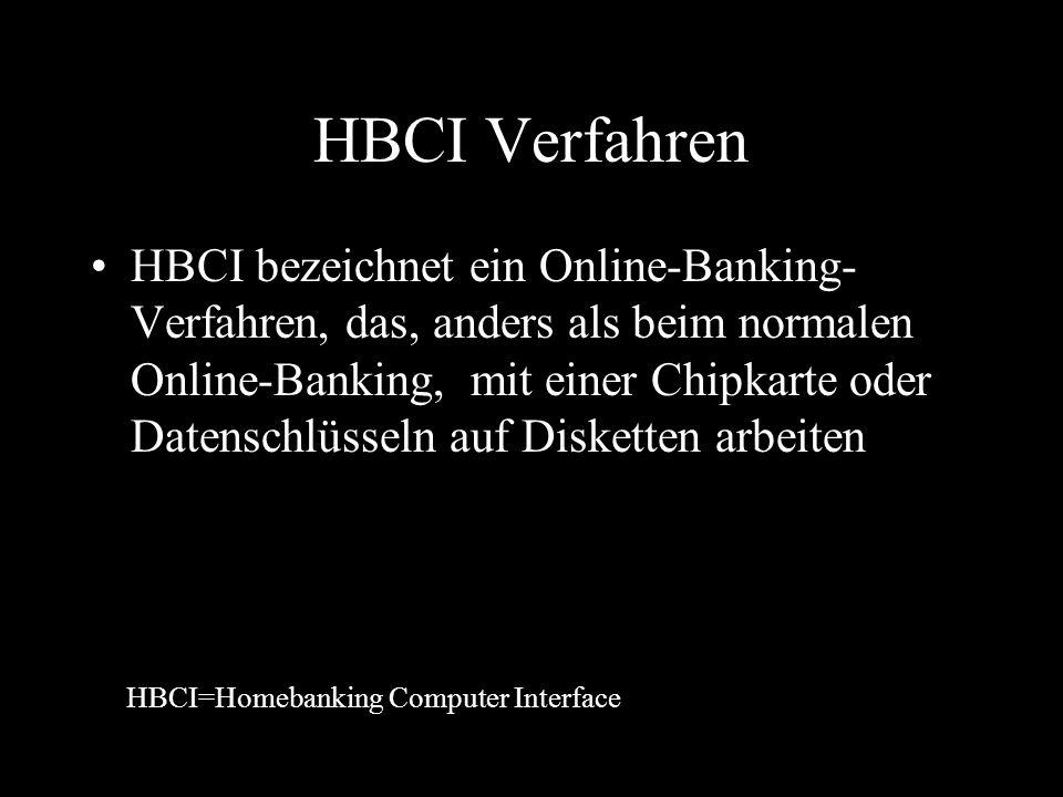 HBCI Verfahren