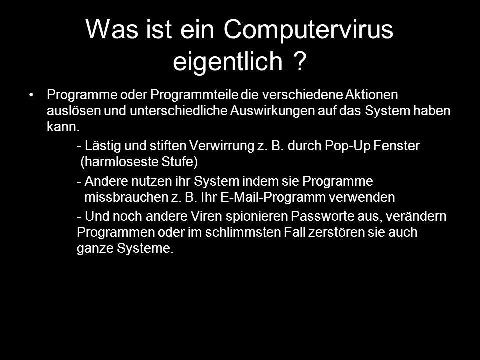 Was ist ein Computervirus eigentlich