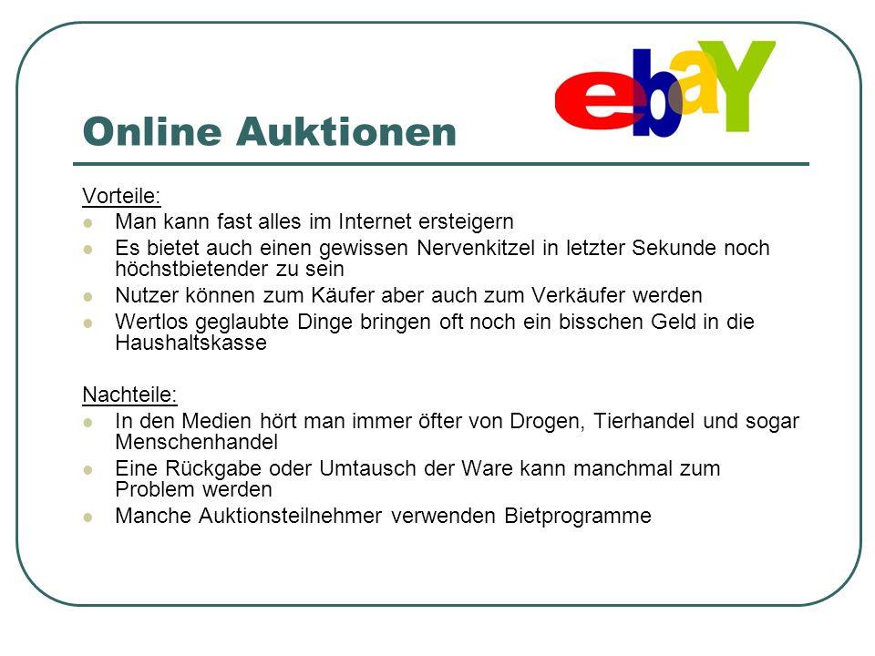 Online Auktionen Vorteile: Man kann fast alles im Internet ersteigern