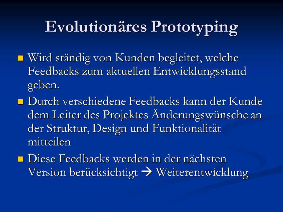 Evolutionäres Prototyping