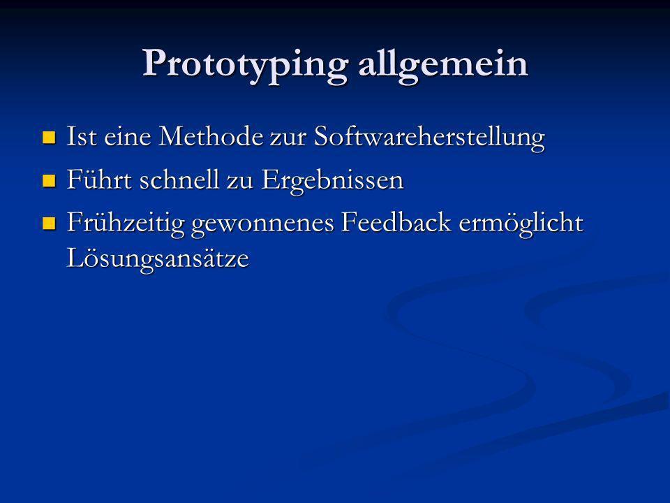 Prototyping allgemein