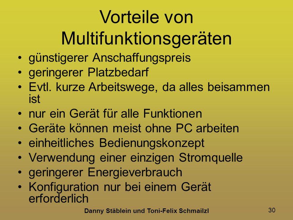 Vorteile von Multifunktionsgeräten