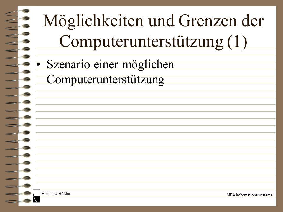 Möglichkeiten und Grenzen der Computerunterstützung (1)