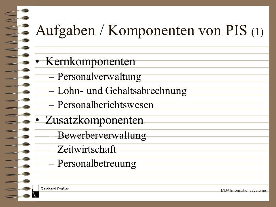 Aufgaben / Komponenten von PIS (1)