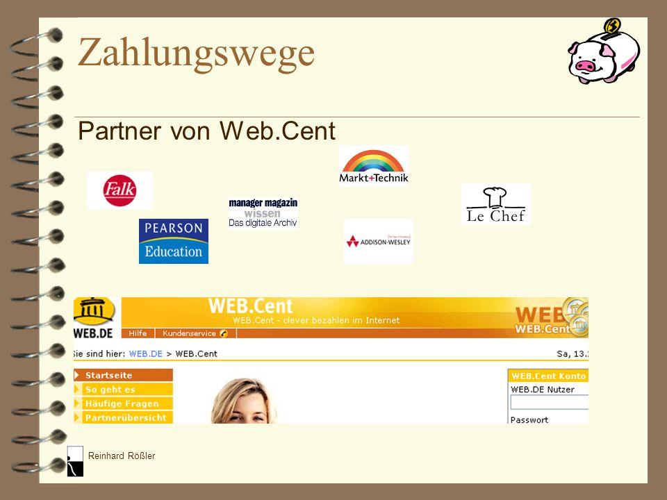Zahlungswege Partner von Web.Cent