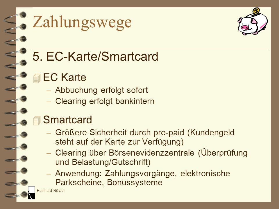 Zahlungswege 5. EC-Karte/Smartcard EC Karte Smartcard