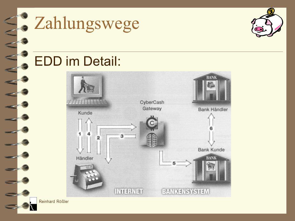 Zahlungswege EDD im Detail:
