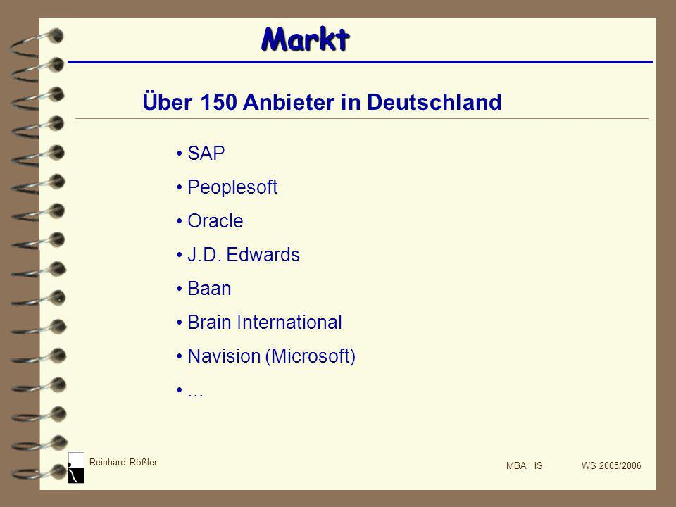 Markt Über 150 Anbieter in Deutschland SAP Peoplesoft Oracle