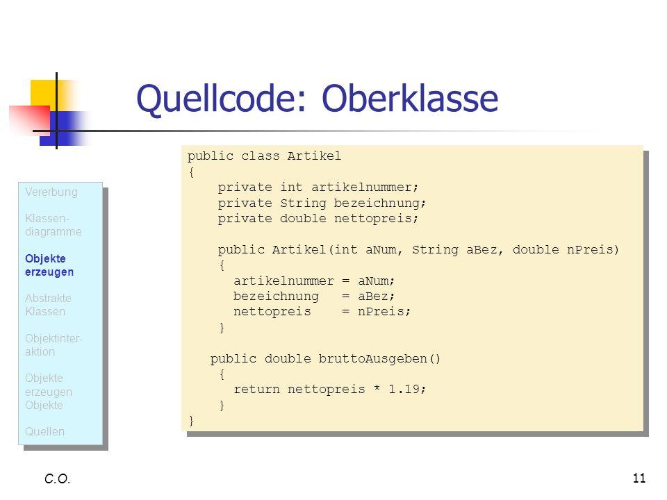 Quellcode: Oberklasse