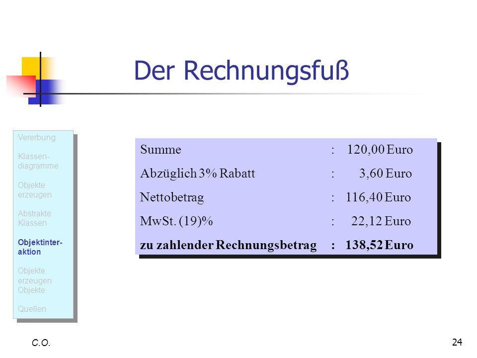 Abzüglich 3% Rabatt : 3,60 Euro Nettobetrag : 116,40 Euro