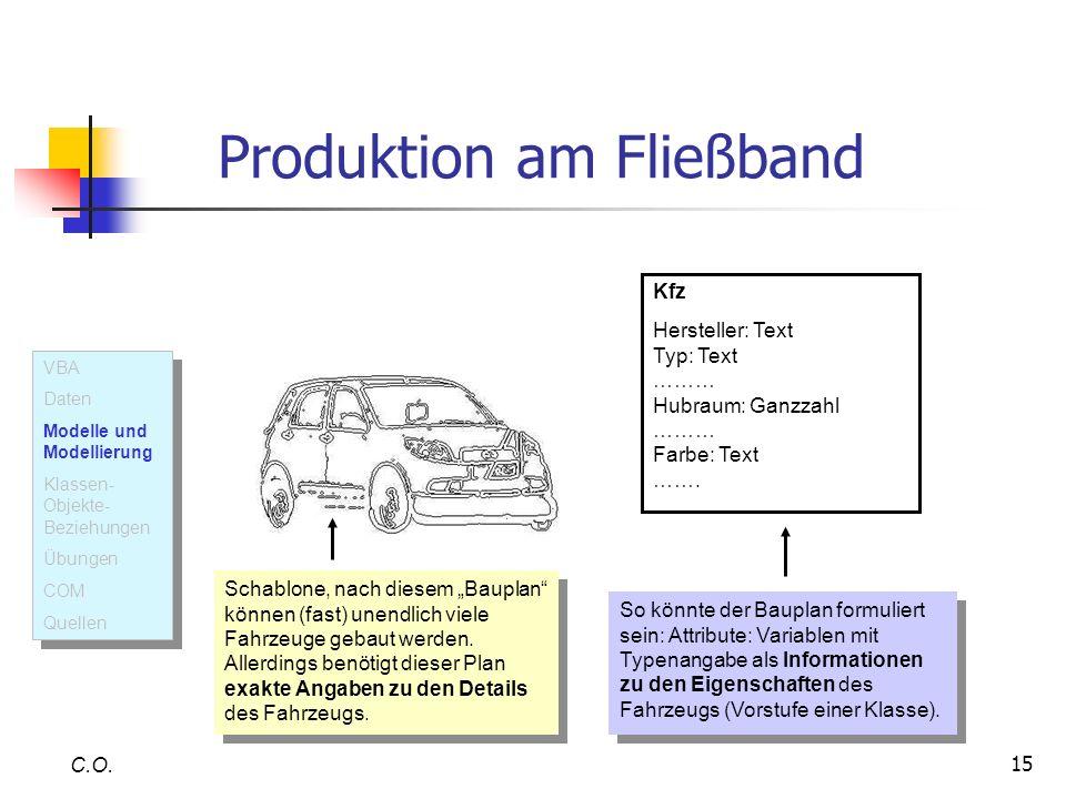 Produktion am Fließband