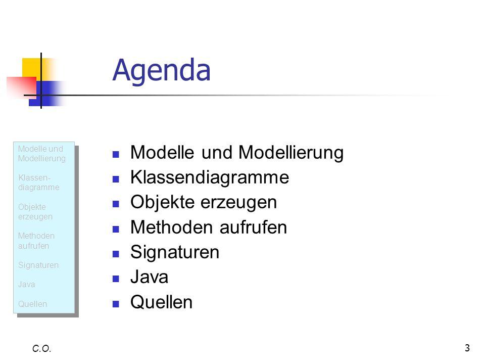 Agenda Modelle und Modellierung Klassendiagramme Objekte erzeugen