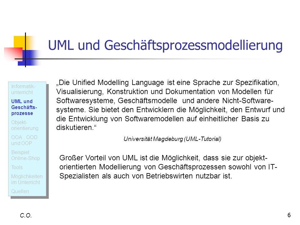 UML und Geschäftsprozessmodellierung