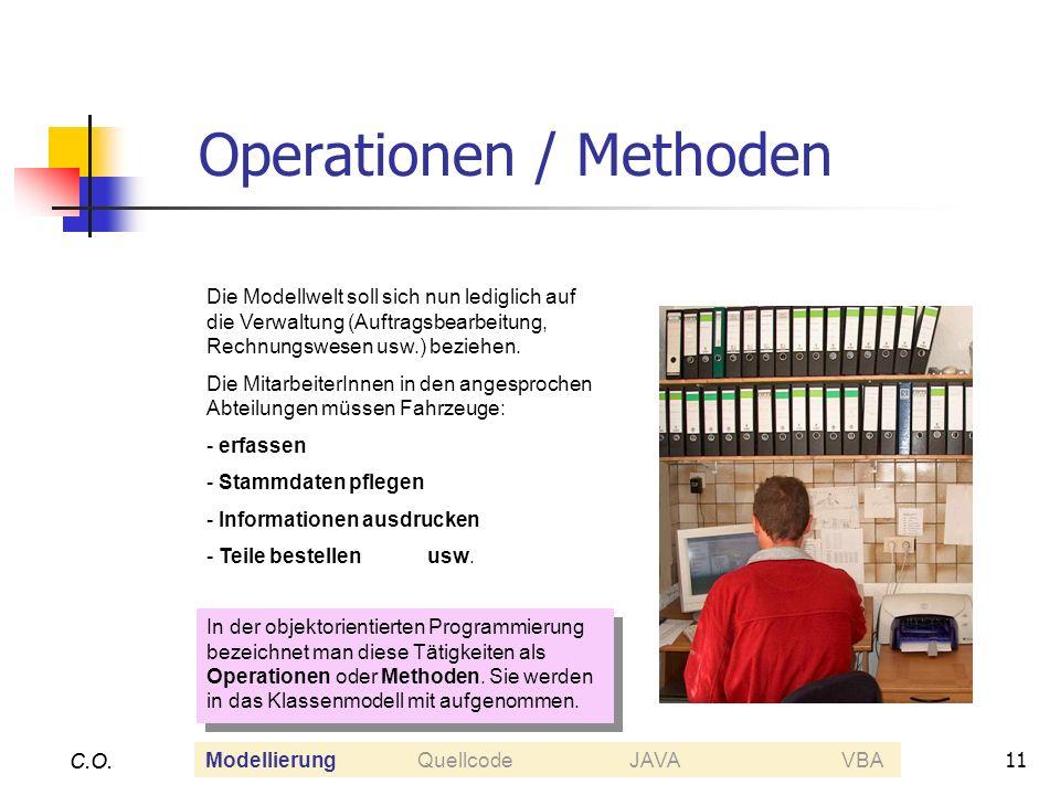 Operationen / Methoden
